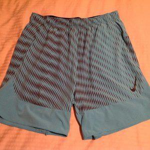 Nike Men's Basketball Shorts Blue/Black Size XL